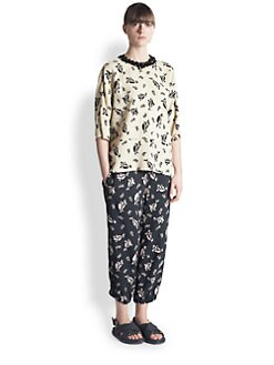 Marni - Printed Bead-Neck Blouse