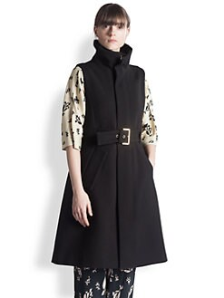 Marni - Sleeveless Shearling-Trimmed Coat