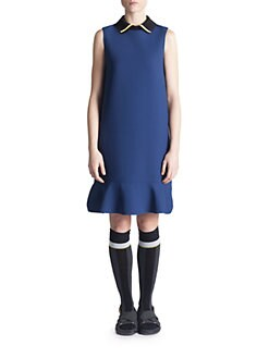 Marni - Contrast Collar Dress