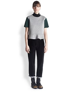 Marni - Mock-Neck Colorblock Top