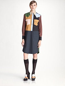Marni - Colorblock Shirtdress