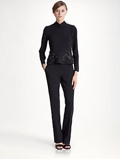 Marni - Embroidered Peplum Top