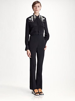 Marni - Embroidered Silk Blouse