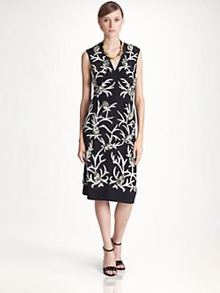 Marni - Embroidered Silk Dress
