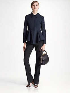 Marni - Cotton Faille Peplum Jacket