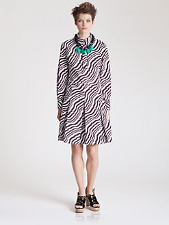 Marni - Pleated Sync Print Dress