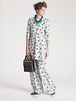Marni - Silk Bear Print Tunic