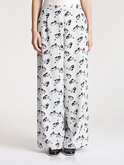 Marni - Silk Bear Print Pants