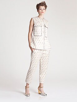 Marni - Sleeveless Jacquard Top