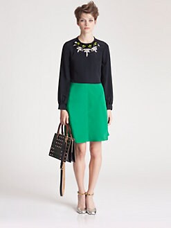 Marni - Jeweled Colorblock Dress
