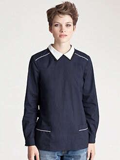 Marni - Poplin Collar Top