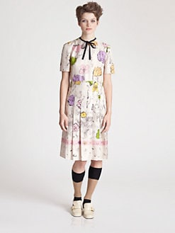 Marni - Silk Cat Print Dress