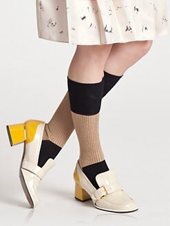 Marni - Gold & Black Socks