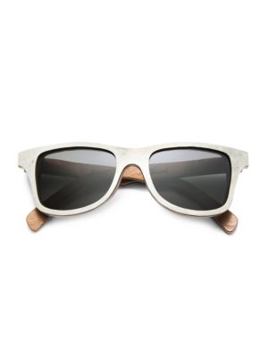 Canby White Slate & Wood Sunglasses