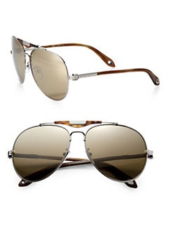 Givenchy - Metal Aviator Sunglasses