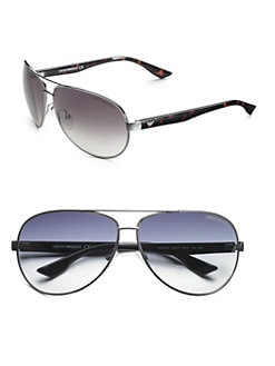 Emporio Armani - Metal Aviator Sunglasses