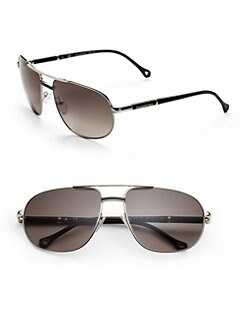 Ermenegildo Zegna - Metal Navigator Sunglasses/Smoke