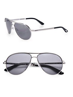 Tom Ford Eyewear - Marko Metal Aviator Sunglasses