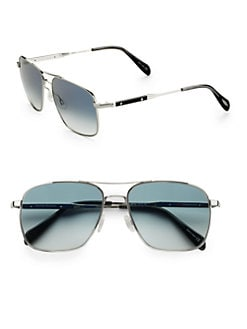 Oliver Peoples - Linford Aviator Sunglasses/Silver