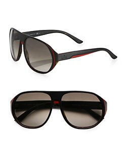 Gucci - Oversized Plastic Sunglasses