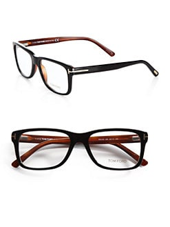 Tom Ford Eyewear - Wide Square Optical Frames/Black & Havana