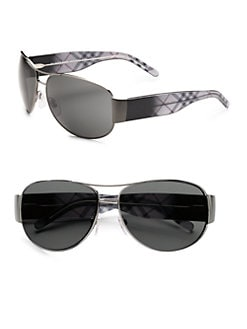 Burberry - Combo Aviator Sunglasses