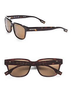 BOSS Black - Square Wayfarer Sunglasses/Dark Havana