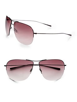 Oliver Peoples - Welles Metal Aviator Sunglasses
