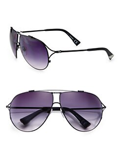 Diesel - Metal Aviator Sunglasses