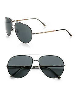 Burberry - Metal Aviator Sunglasses