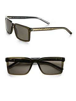 Burberry - Rectangular Check Sunglasses