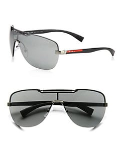 Prada - Metal Shield Sunglasses
