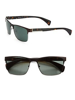 Prada - Two-Tone Square Sunglasses