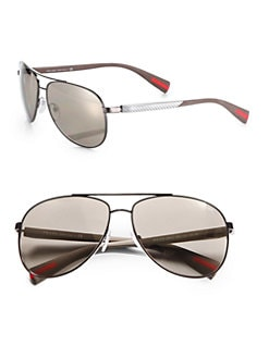 Prada - Polished Metal Aviators