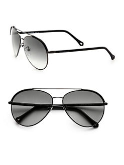 Ermenegildo Zegna - Metal and Leather Aviators