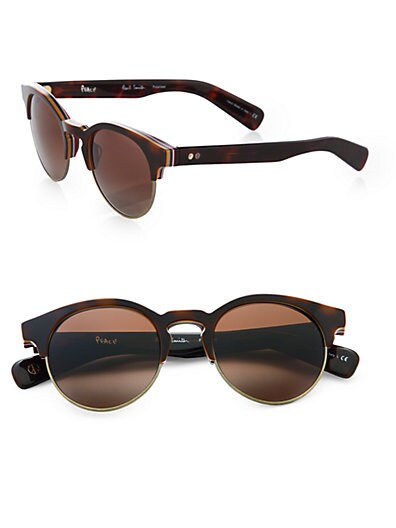 86d8fe5b0b351 Paul Smith Jameston Half Wayfarer Sunglasses Brown on PopScreen