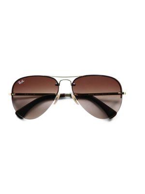 RB3449 59MM Semi-Rimless Aviator Sunglasses