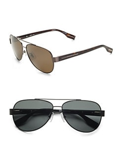 BOSS Black - Metal Aviator Sunglasses