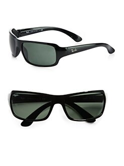 Ray-Ban - Rectangular Wrap Sunglasses