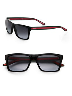 Gucci - Web Stripe Sunglasses