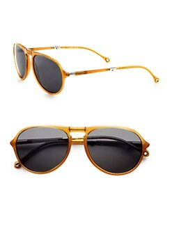 Ermenegildo Zegna - Resin Aviator Sunglasses