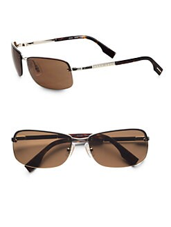 BOSS Black - Rectangular Metal Sunglasses