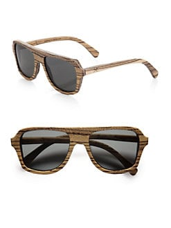 Shwood - Ashland Wood Aviator Sunglasses