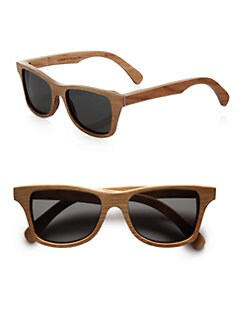 Shwood - Canby Houndstooth Wood Sunglasses