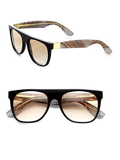 Super by Retrosuperfuture - Flat Top Onice Rosso Sunglasses