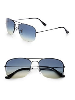 Ray-Ban - Double Bridge Square Sunglasses