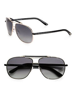 Tom Ford Eyewear - Z Metal Navigator Sunglasses