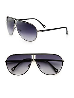 Ermenegildo Zegna - Metal Shield Sunglasses