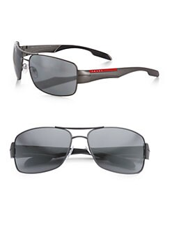 Prada - Double-Bridge Rectangular Sunglasses