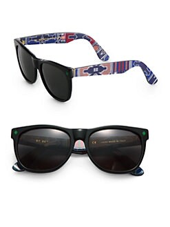 Super by Retrosuperfuture - Ndebele African Print Wayfarer Sunglasses
